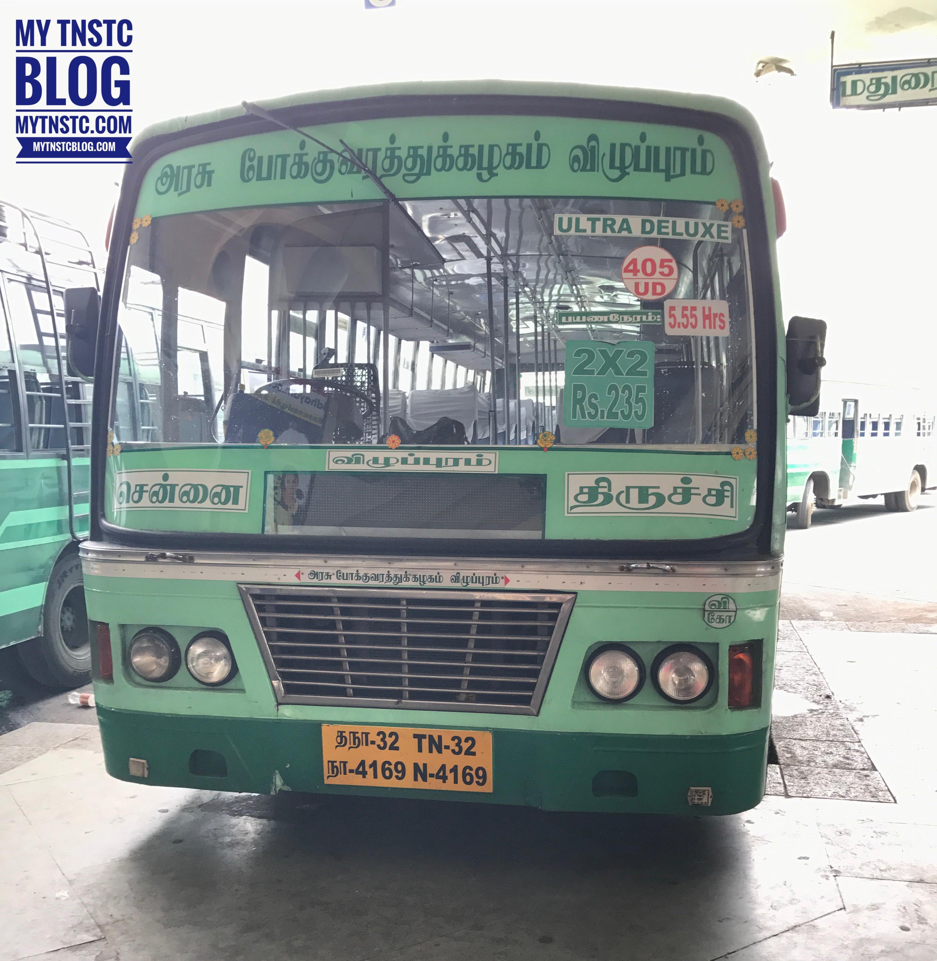 Chennai To Trichy TNSTC Bus Timings