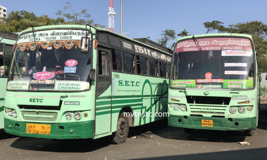 Chennai To Aranthangi SETC Bus Timings