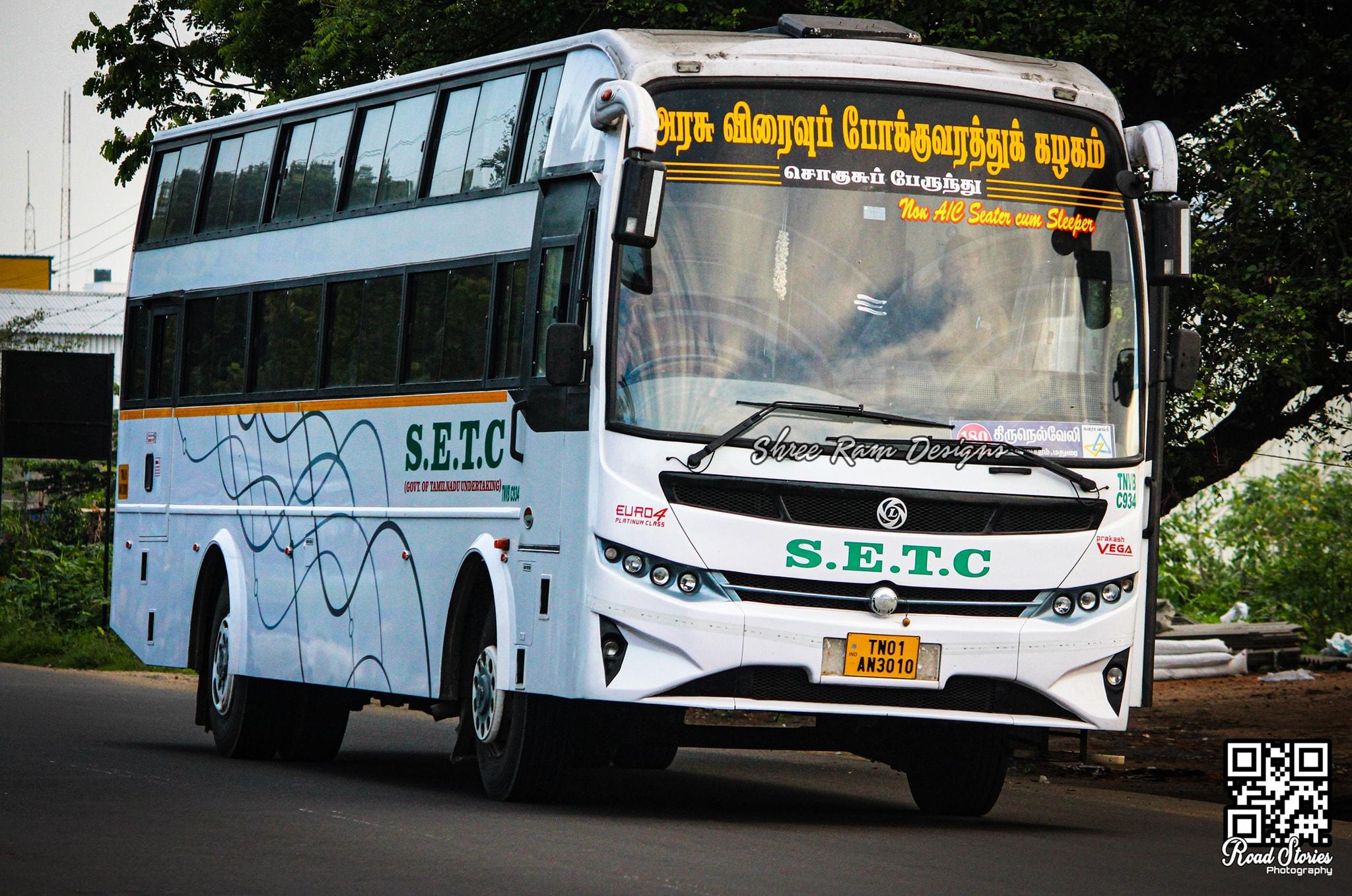 Chennai To Tirunelveli SETC Non AC Bus Service Timings