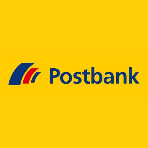 Logo der Postbank, die wir in der Filiale Tommis Laden in Frankfurt am Main integriert haben.