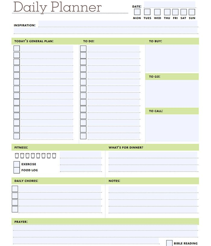 Daily Calendar Template 5 Best Daily Printable Images 12