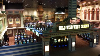 Rows and rows of slot machines at Bally's Hotel & Casino in Atlantic City