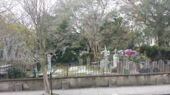 One of the many old graveyards around Charleston