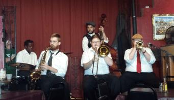 Brass band at Buffa's