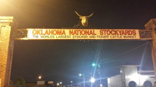 Oklahoma National Stockyards - as close to the meat as you can get!