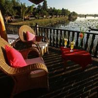 Hotel sur le lac inlé en Birmanie