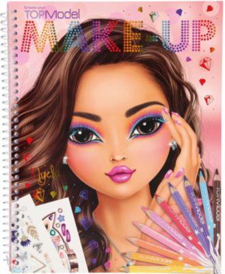 create your topmodel make up malbuch topmodel