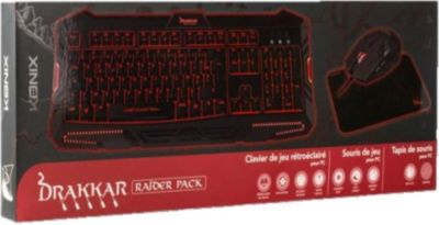 pc drakkar raider pack keyboard maus pad