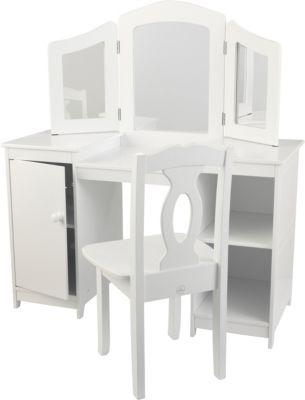 Frisierkommode Deluxe mit Stuhl, weiß