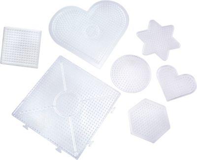 Steckplatte Bugelperlen Quadrat Weiss Klein Erweiterbar Fur Maxi