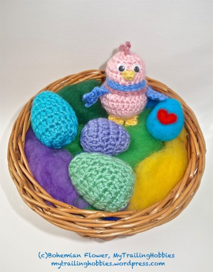 Crochet Easter Eggs and Chick 3