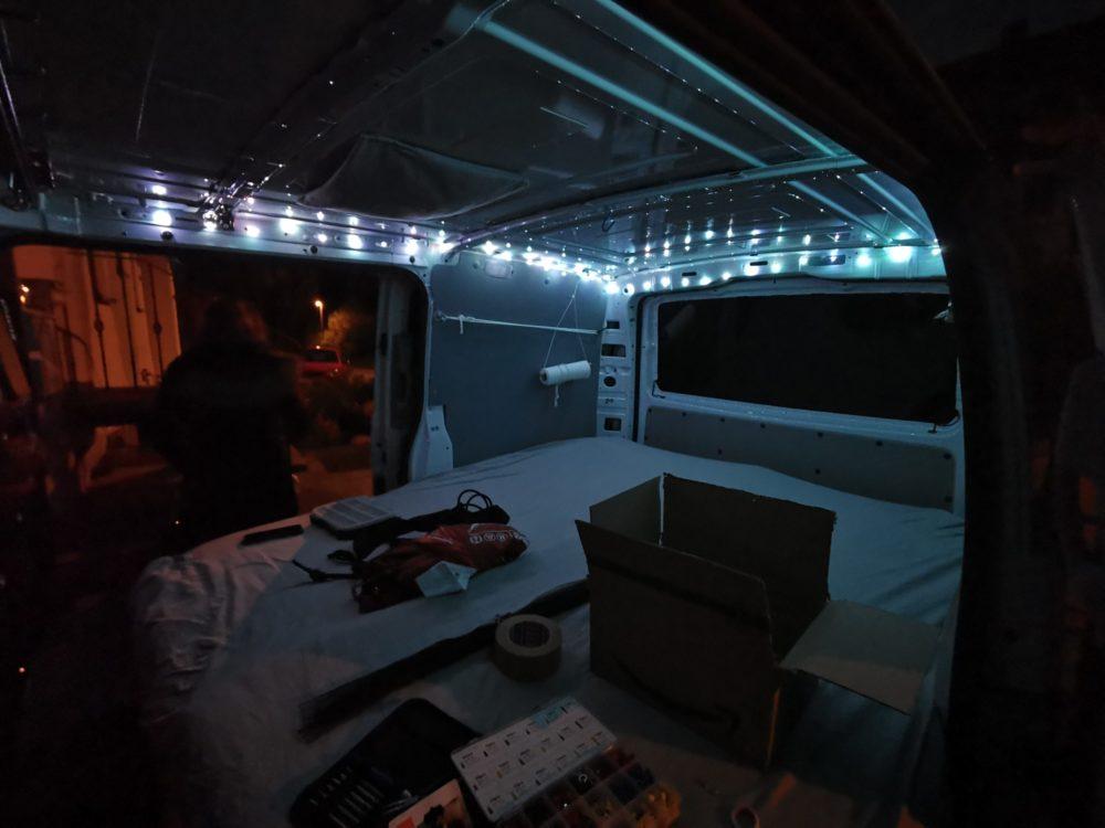 Licht im Van