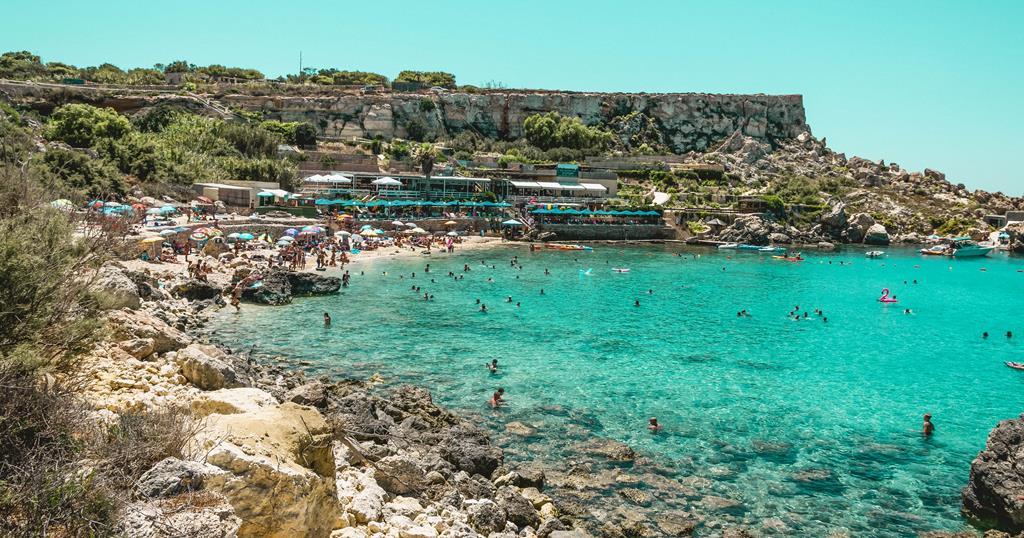 najpiękniejsze plaże na Malcie