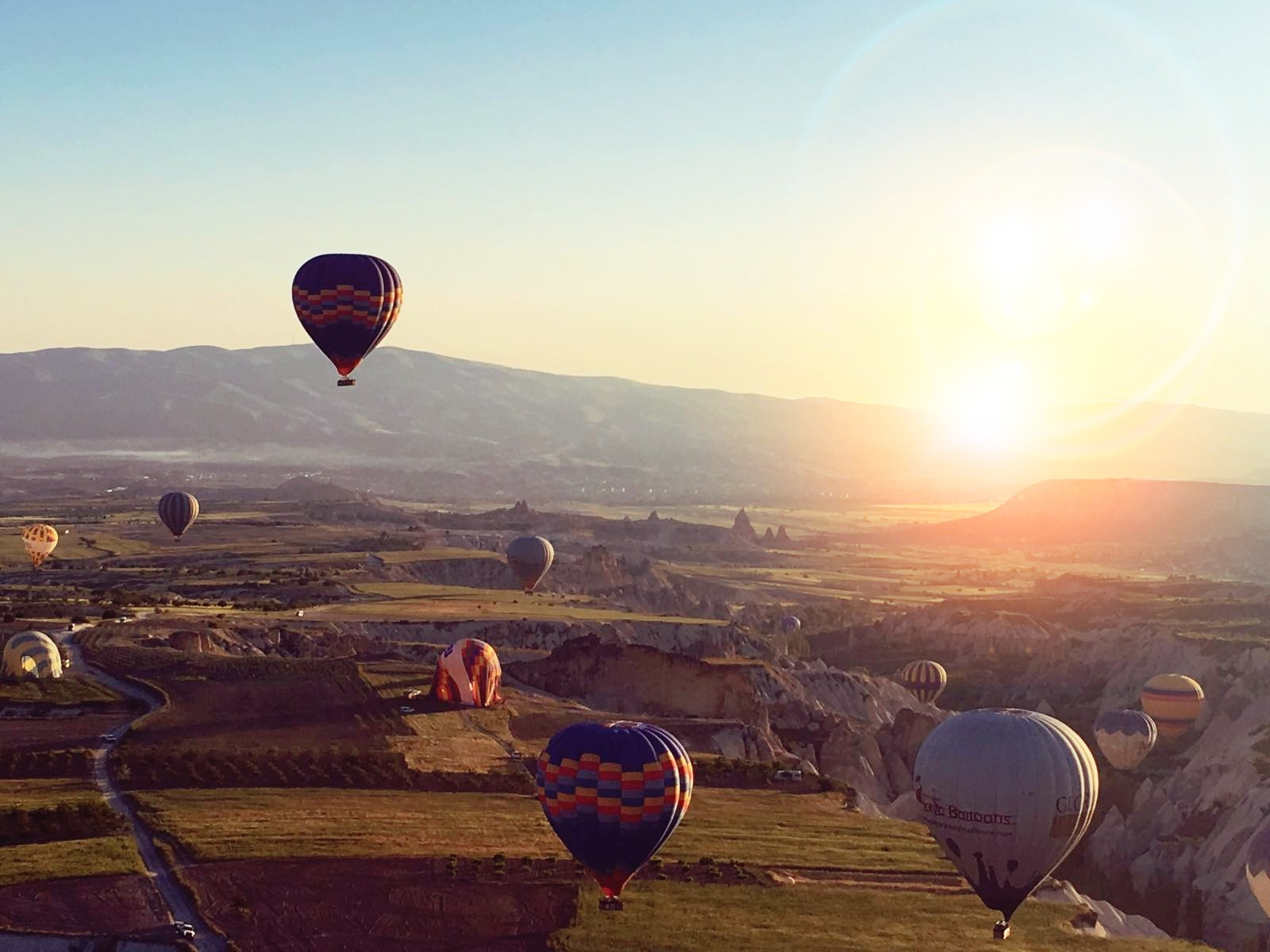 Een ballonvlucht over Cappadocië