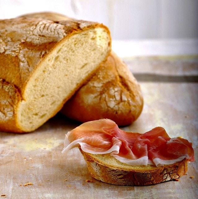 Ham and bread Tuscany