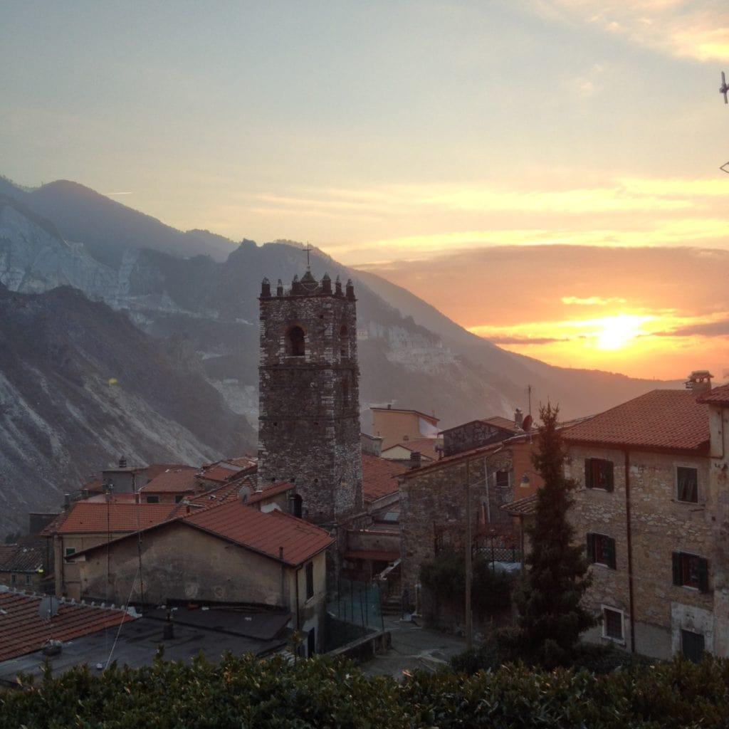 Colonnata Sunset Tuscany