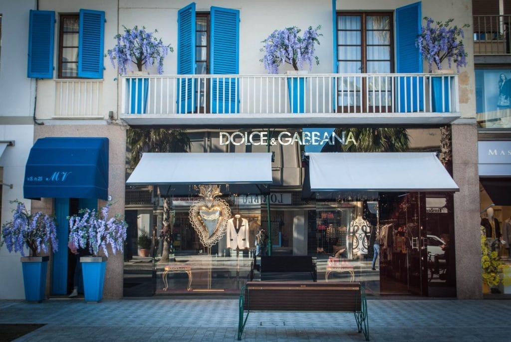 Forte dei Marmi boutique dolce e gabbana Tuscany