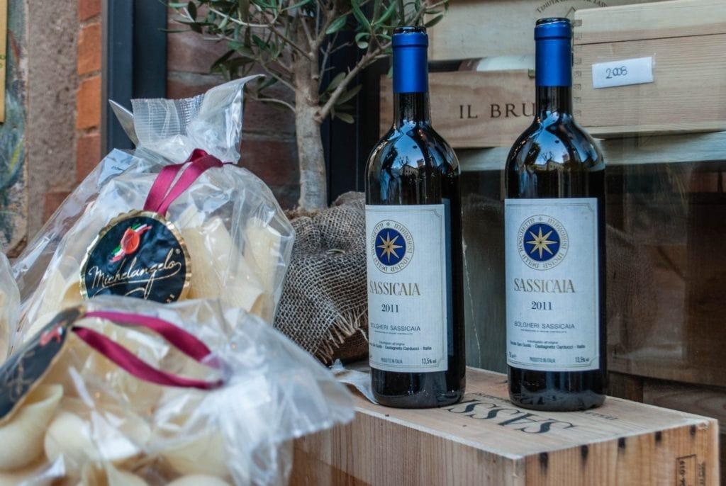 Bolgheri Sassicaia wine Tuscany