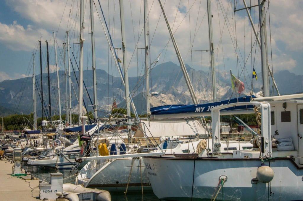 Marina di Carrara Touristic Harbor Apuan Coast tuscany