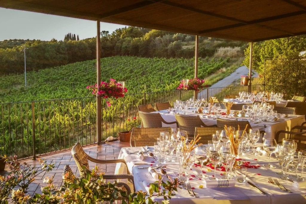 Sunset terrace Convito di curina Giorgio Trovato