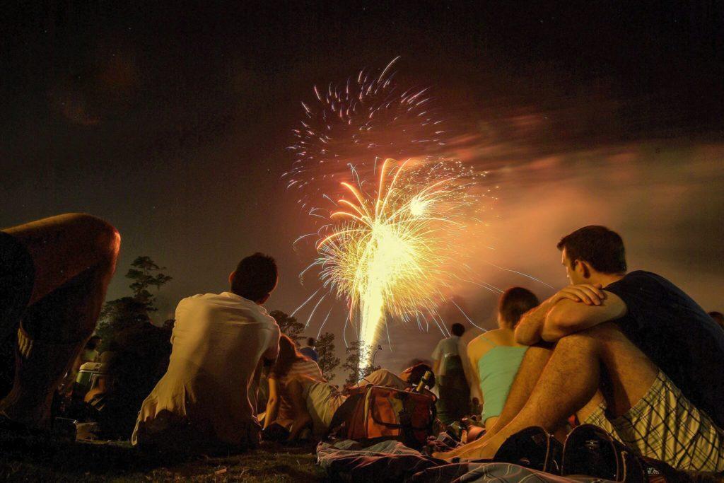 Ferragosto fireworks tuscany