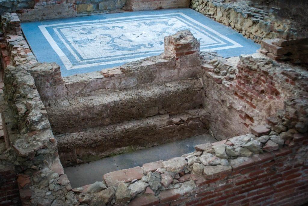 the mosaic Massaciuccoli Romana