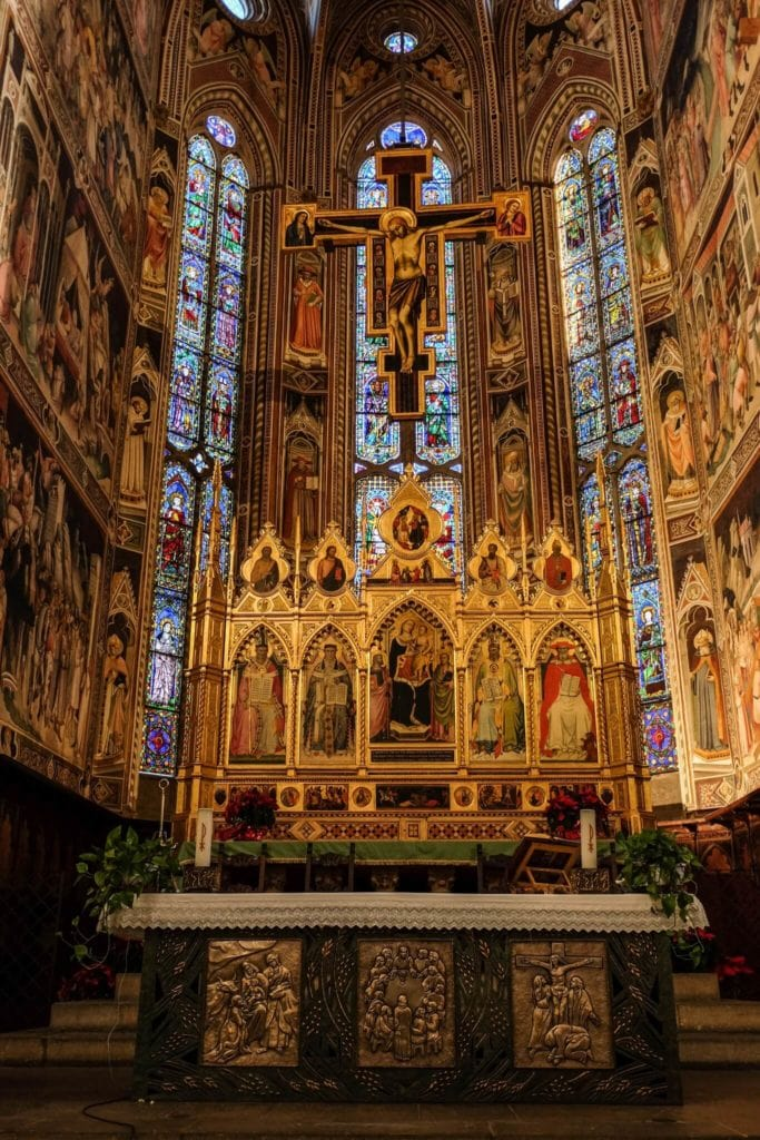 Front of Cappella Maggiore Santa Croce Florence