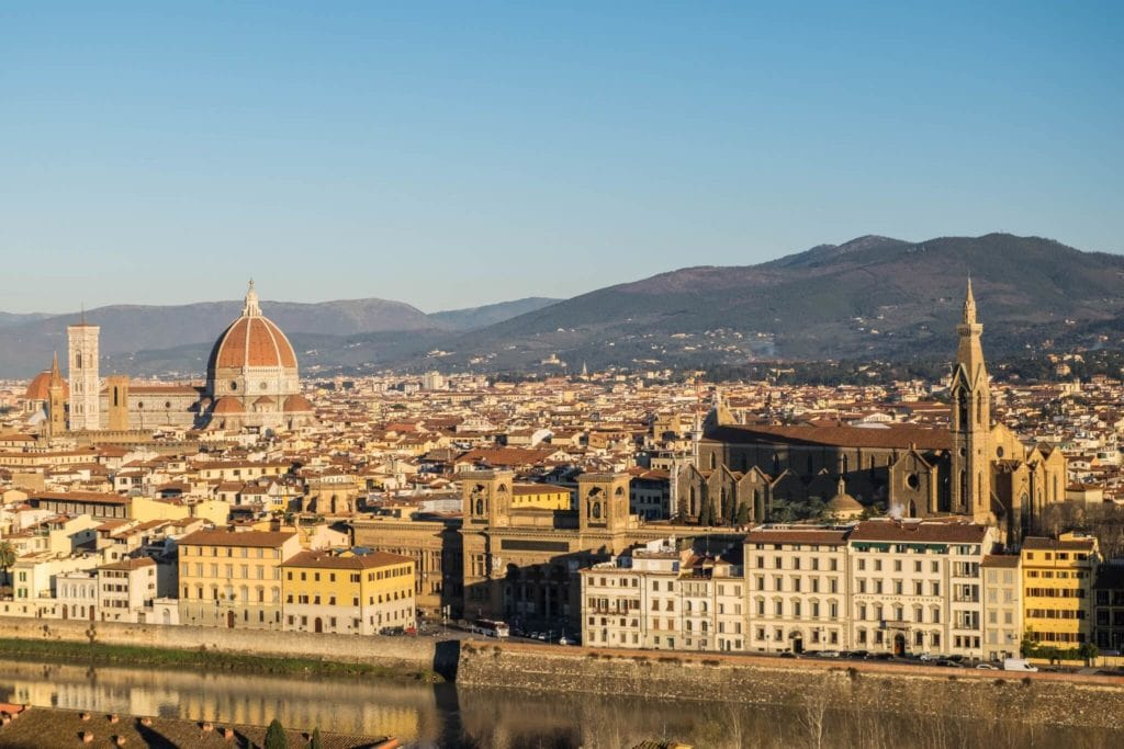 Santa Croce from the Piazzale Michelangelo