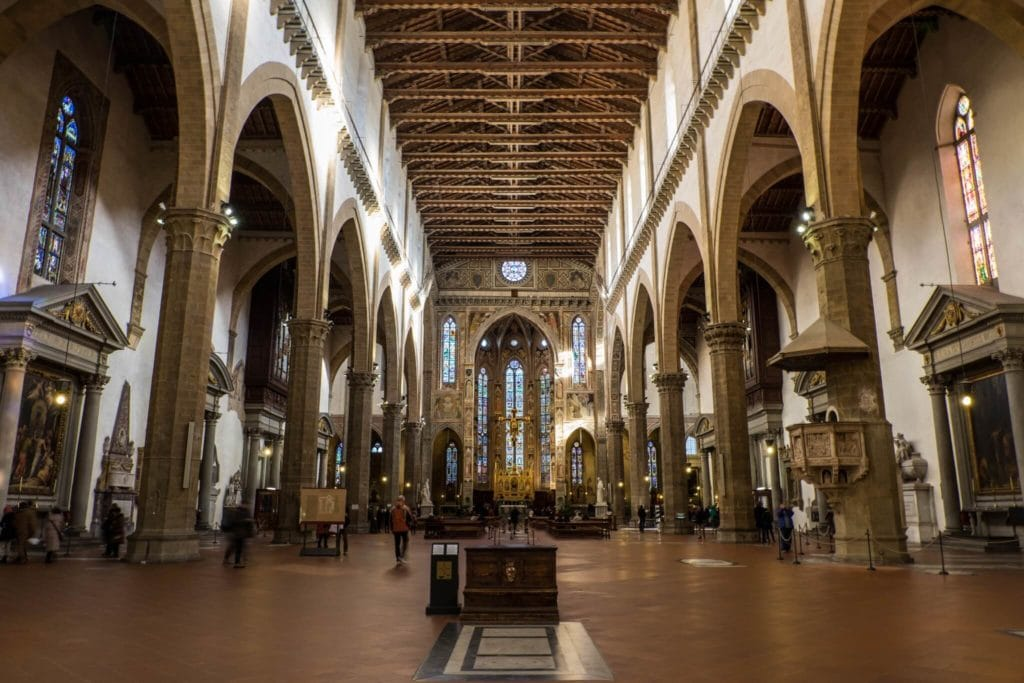 The Interior of Santa Croce Florence