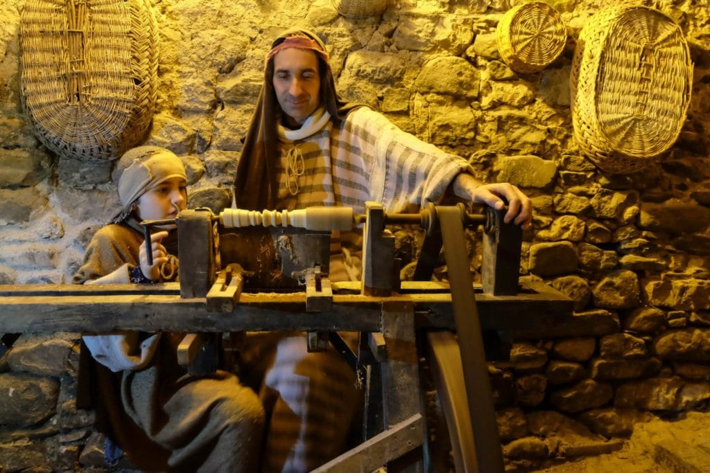 nativity scene of equi terme carpenter