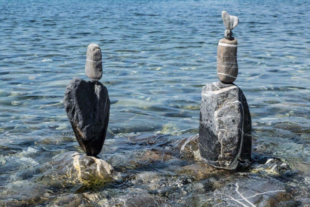 SBAM Stone Balancing Tuscany rock water