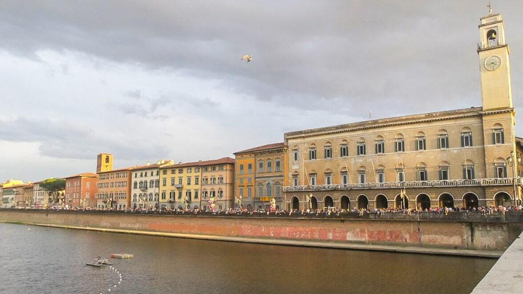 Lungarno Luminara of San Ranieri in Pisa