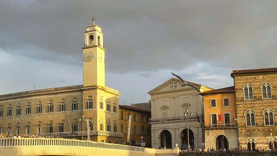 Ponte di mezzo for the Luminara of San Ranieri in Pisa