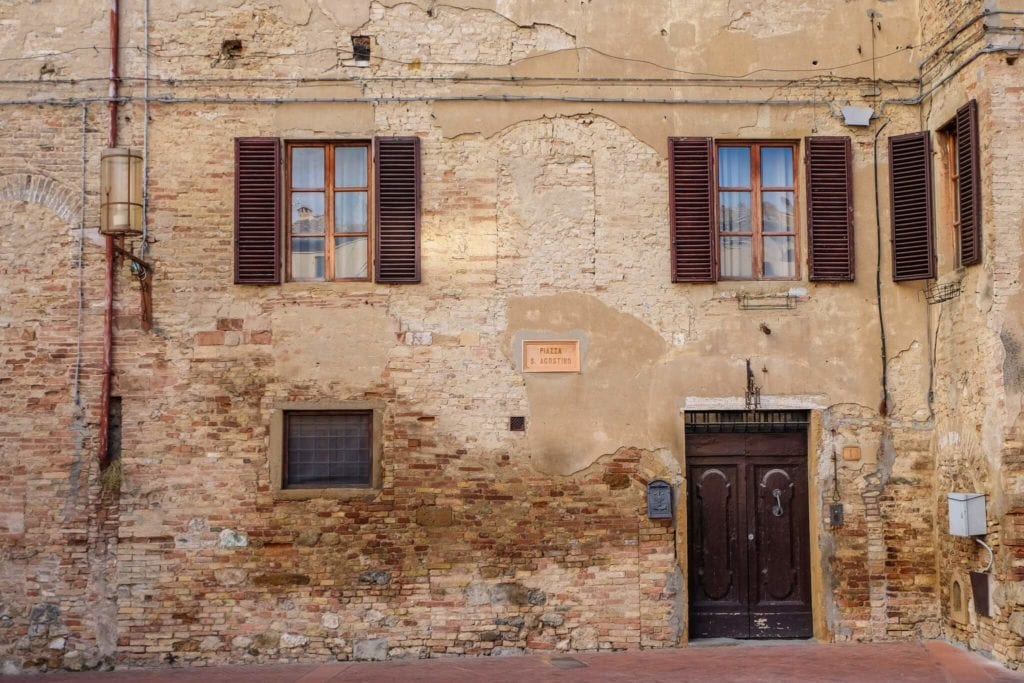 Sant Agostino square San Gimignano