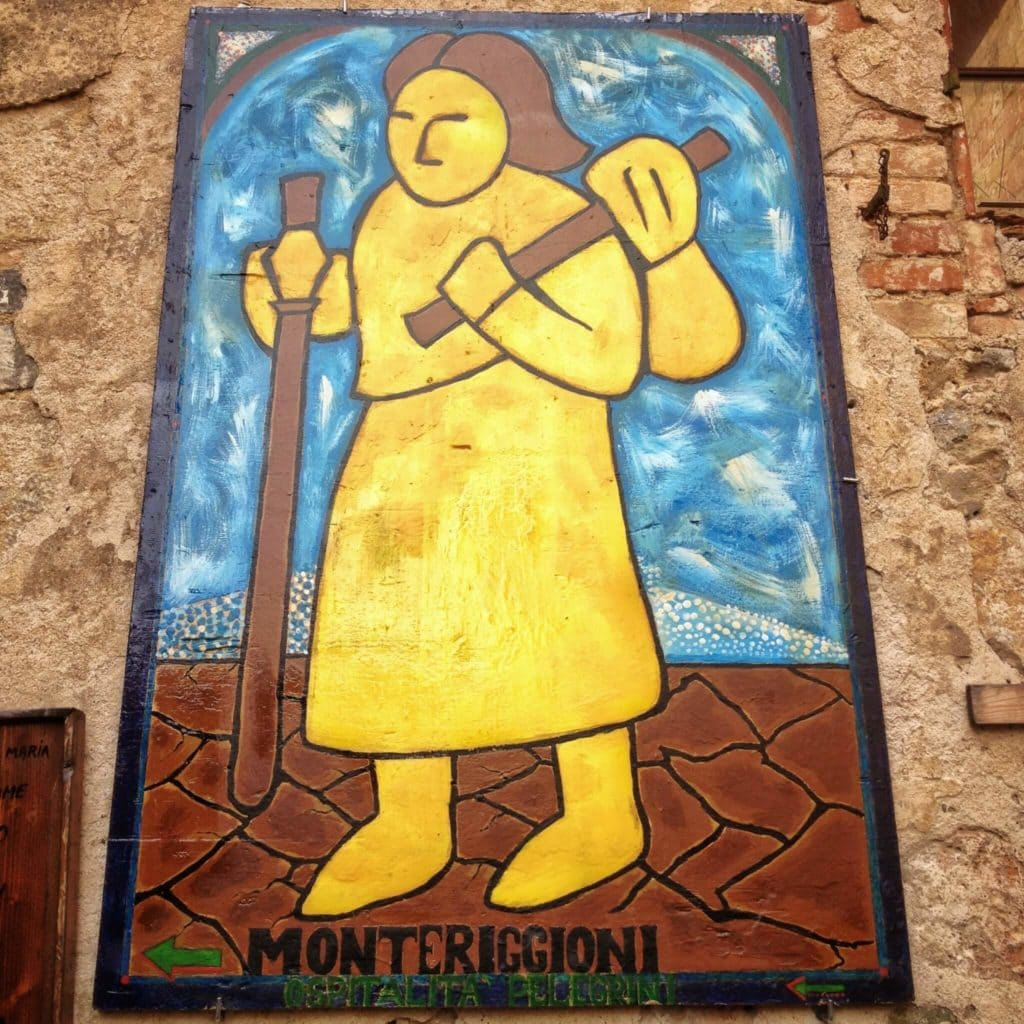 the pilgrims symbol Via Francigena in Tuscany my travel in tuscany