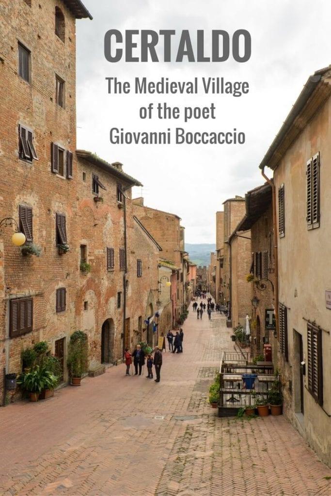 Certaldo Village in Tuscany Pinterest