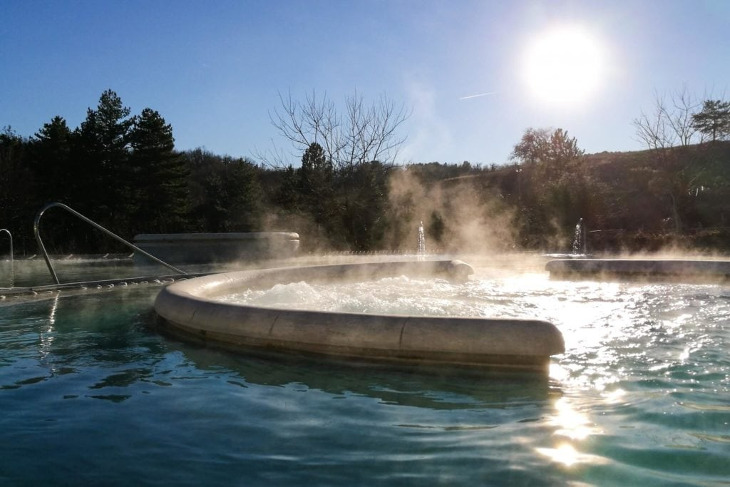 Chianciano hot springs in Val di Chiana