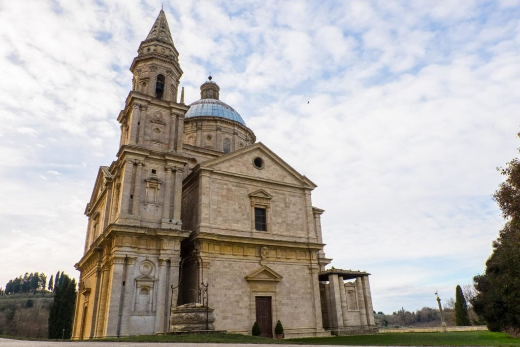 The temple of San Biagio in Montepulciano