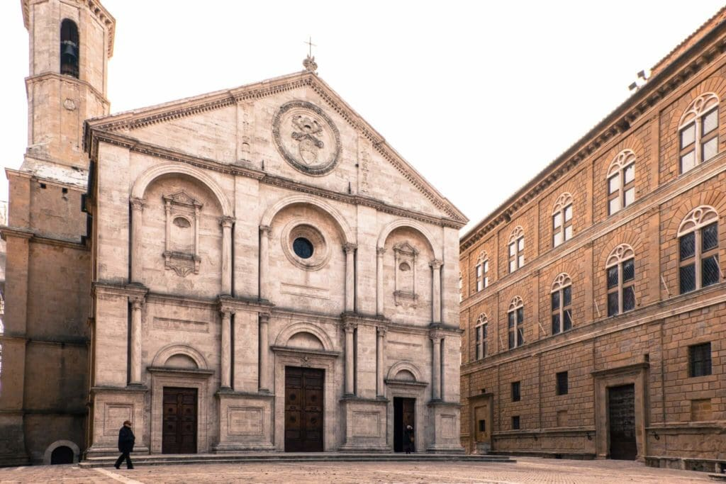 The main Square of Pienza in Val d'orcia