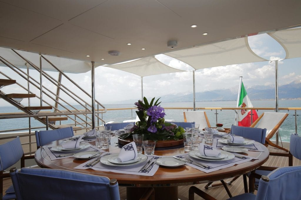On Board of a Yacht table