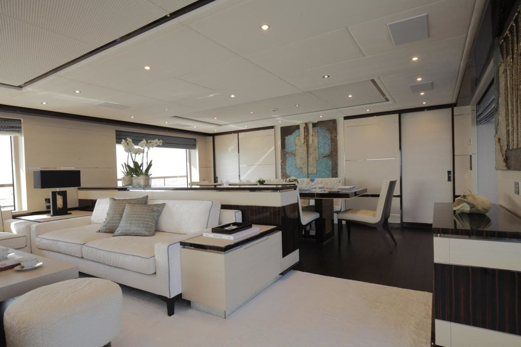 Interior of a yacht
