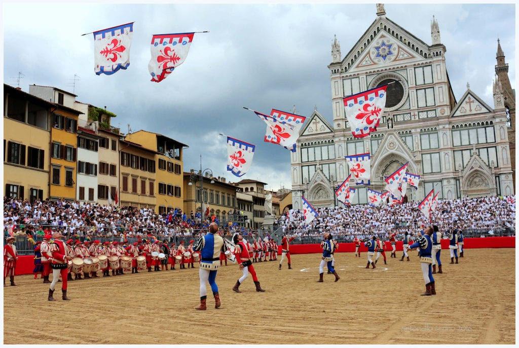 Calcio Storico pre-game in Florence