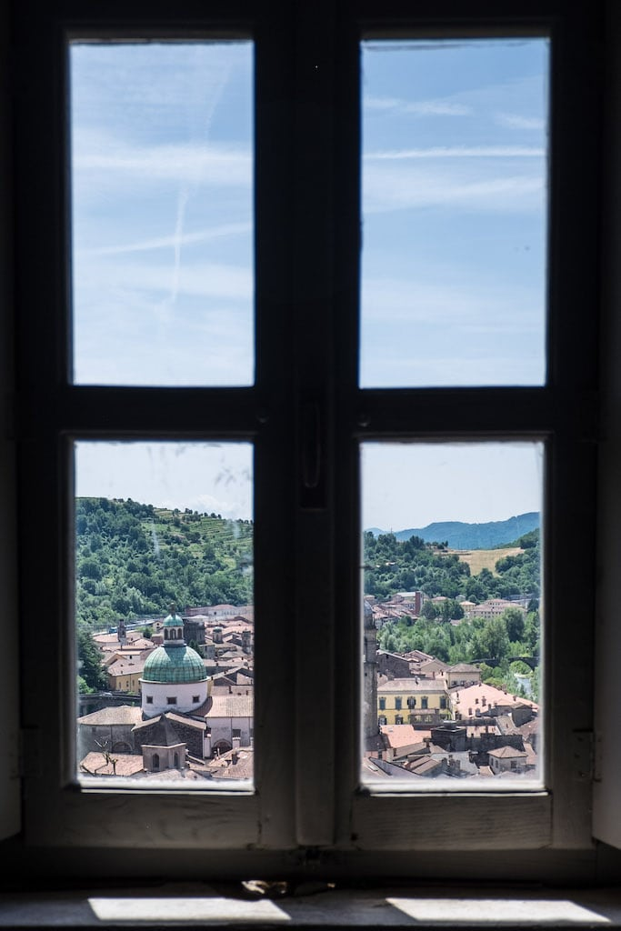 Pontremoli View from the Window of the Piagnaro Castle