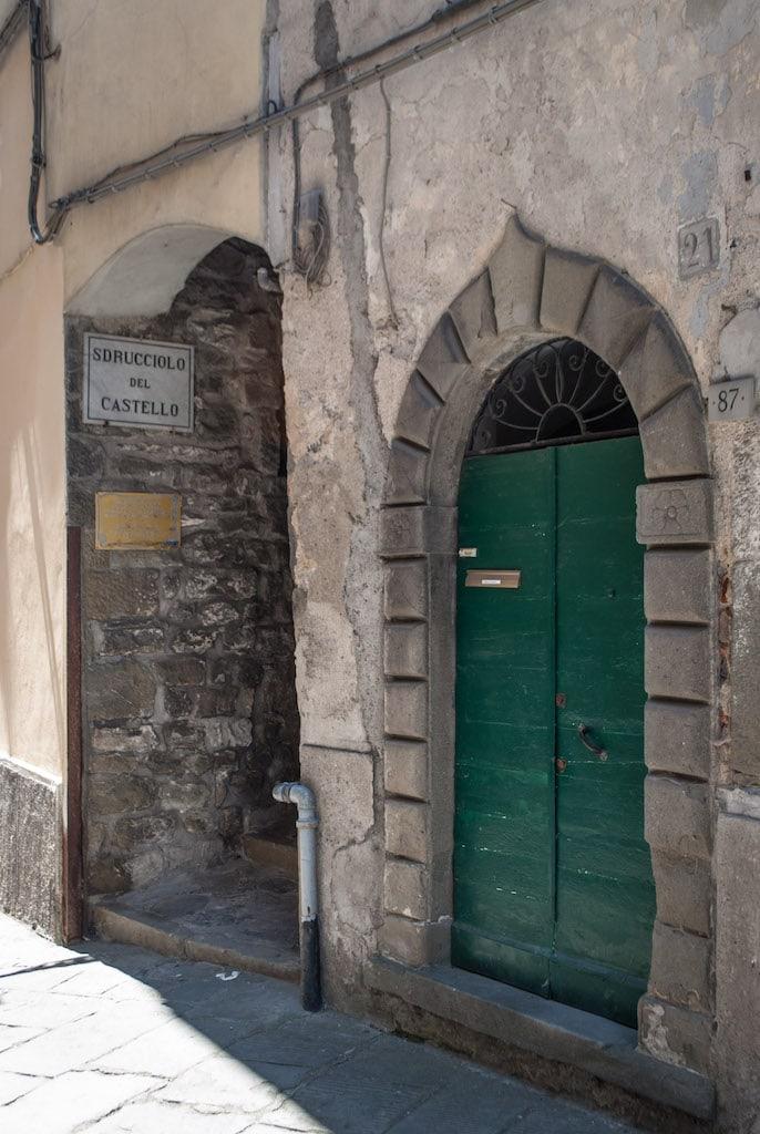 Path to the Castle Pontremoli Tuscany