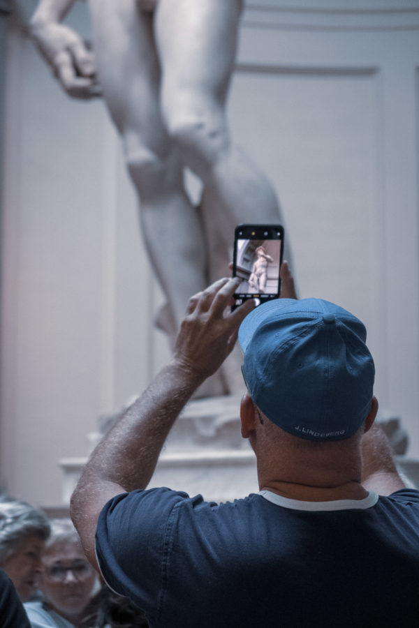 Michelangelo's David tourist picture