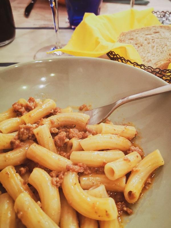 Dish of Pasta, Bottega di Canfreo, Lari, Valdera in Tuscany