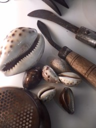 Tools used in Pearl trade with Cypraea Tigris and ..