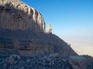 Mountain exploring in the Mussandam region, Oman..