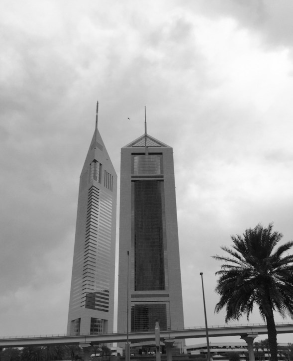 2-Just across the very busy Sheik Zayed road, stands the Emirates Towers Hotel, a fairly iconic design.