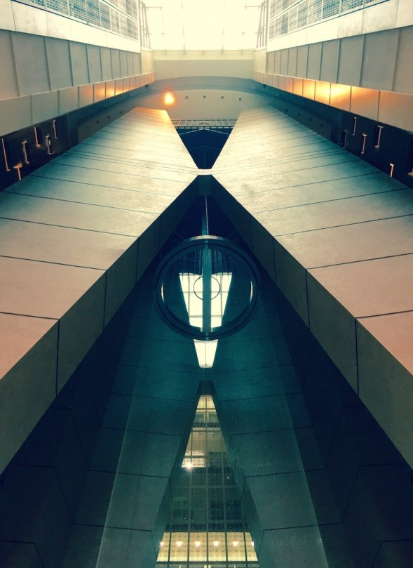 Looking up the symmetrical lines...